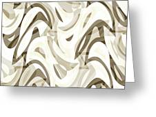 Abstract Waves Painting 007212 Greeting Card
