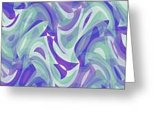 Abstract Waves Painting 007217 Greeting Card