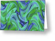 Abstract Waves Painting 007221 Greeting Card