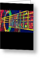 Acoustic Guitar Musician Player Metal Rock Music Color Greeting Card