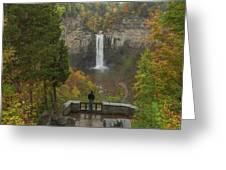 Admiring Taughannock Falls Greeting Card by Dan Sproul