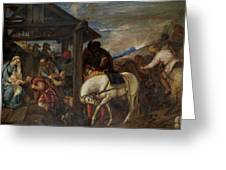 Adoracion De Los Reyes Magos   Greeting Card