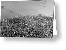 Aerial View Of Downtown San Francisco From The Air Greeting Card