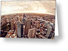 Aerial View Of Downtown Sydney At Greeting Card