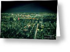 Aerial View Of Manhattan Skyline  Greeting Card