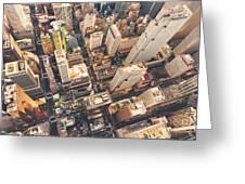 Aerial View Of Midtown Manhattan At Greeting Card