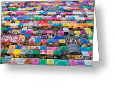 Aerial View Of Multiple Color Roof To Greeting Card