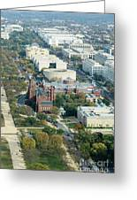 Aerial View Of Museums On The South Side Of The National Mall In Greeting Card