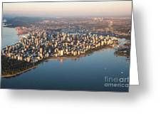 Aerial View Of Stanley Park And Greeting Card