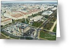 Aerial View Of The Smithsonian National Museum Of African Americ Greeting Card