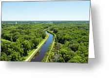 Aerial View Of Vegetation On Landscape Greeting Card