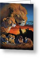 African Cats Greeting Card