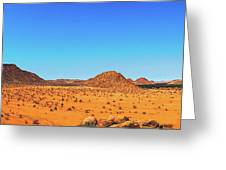 African Desert Panorama Greeting Card