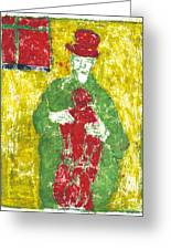 After Billy Childish Painting Otd 23 Greeting Card