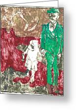 After Billy Childish Painting Otd 43 Greeting Card