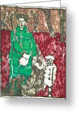 After Billy Childish Painting Otd 45 Greeting Card