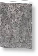 After Billy Childish Pencil Drawing 1 Greeting Card