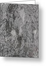 After Billy Childish Pencil Drawing 3 Greeting Card