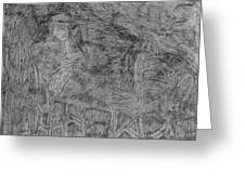 After Billy Childish Pencil Drawing 5 Greeting Card