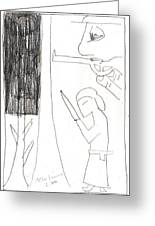 After Mikhail Larionov Pencil Drawing 10 Greeting Card
