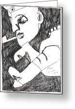 After Mikhail Larionov Pencil Drawing 4 Greeting Card