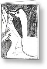 After Mikhail Larionov Pencil Drawing 5 Greeting Card