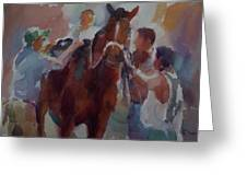 After Race Greeting Card