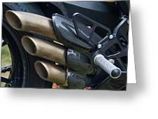 Agusta Racer Pipes Greeting Card