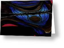 Aile De Papillon Bleu Greeting Card