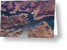 Air View Of Lake Powell Greeting Card