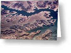Air View Of The Colorado River Greeting Card