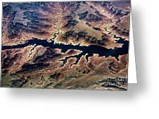 Air View Of The Grand Canyon Greeting Card