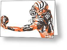 Aj Green Cincinnati Bengals Pixel Art 40 Greeting Card