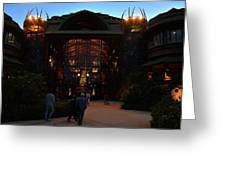 Ak Lodge Lobby Christmas Greeting Card