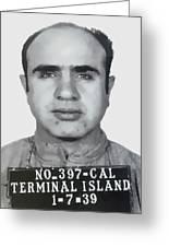 Al Capone Mugshot 1939 - T-shirt Greeting Card