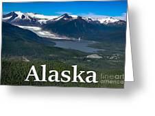 Alaska - Mendenhall Glacier And Auke Lake Greeting Card