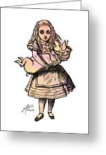 Alice And The Pig Greeting Card