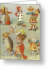 Alice In Wonderland Characters Greeting Card