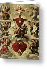 Allegory Of The Holy Eucharist Greeting Card
