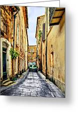 Alley In Avignon Greeting Card