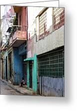 Alley In Cuba Greeting Card