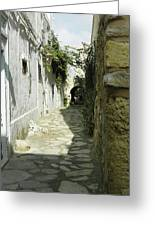 alley in Hammamet, Tunisia Greeting Card
