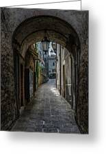Alleys Of San Marino Greeting Card