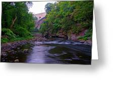 Along The Wissahickon At The Henry Avenue Bridge Greeting Card