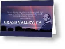 Alonzo Delano Grass Valley Quote Greeting Card