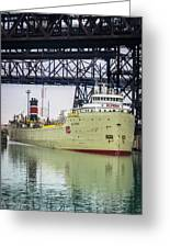 Alpena Under The Ns5 Rr Bridge Greeting Card
