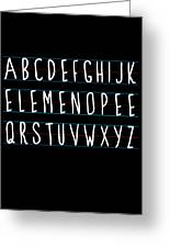 Alphabet Elemeno Greeting Card