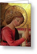Altarpiece Angel Antique Christian Catholic Religious Art Greeting Card