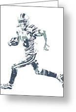 Amari Cooper Dallas Cowboys Pixel Art 3 Greeting Card