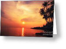 Amazing Colors Of Tropical Sunset Greeting Card